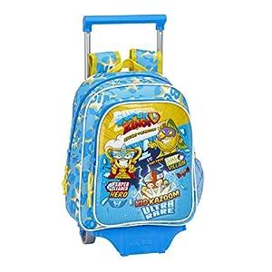Safta 611976020 Mochila Pequeña Ruedas, Carro, Trolley Superzings, Infantil