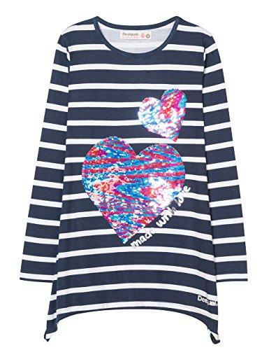 Desigual Mädchen TS_CHIVITE T-Shirt, Blau (Marino 5001), 152 (Herstellergröße: 11/12)