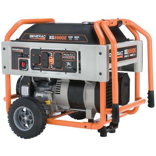 Generac 5747, 8000 Running Watts/10000 Starting Watts, Gas Powered Portable Generator(Discontinued by Manufacturer)