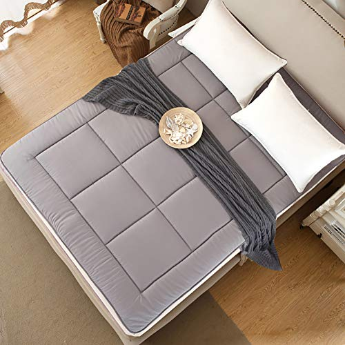 UNILIFE Atmungsaktive Schlafsaal Tatami Matratze Topper, Zusammenklappbar Bett-matten Matratzenschoner Gemütlich Schlafen pad Futon-G 100x200x4cm
