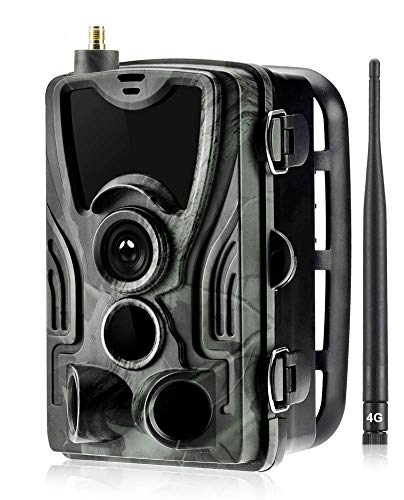 ZXGQF 4G Wildkamera Fotofalle 1080P Full HD 16MP Jagdkamera IP65 wasserdichte Jagdkamera 36 Pcs Low-Glow 940nm Infrarot-LEDs, Infrarot-Nachtsicht bis zu 20m, Triggerzeit 0.3s für Jagd Überwachung