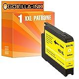 Gorilla-Ink 1x Tinten-Patrone XXL kompatibel mit HP 933 XL Yellow OfficeJet 6100 6100 E-Printer 6600 6600 E