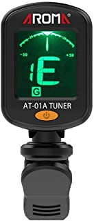 Clip-on Guitar Tuner Portable Color Screen Guitar Tuner for Chromatic Guitar Bass Ukulele