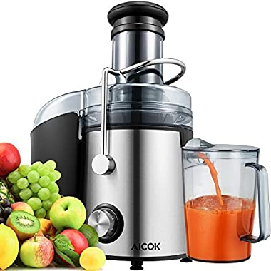 Aicok Juicer Wide Mouth Juice Extractor 1000 Watt Centrifugal Juicer Machine Powerful Whole Fruit and Vegetable Juicer with Juice Jug and Cleaning Brush, 2018 upgrade