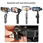 Universal 100g gimbal counterweight for balancing moment lens/phone case cover for zhiyun smooth 4 dji osmo mobile 2… 12 ►material: cnc made counterweights,anti-rust and durable to use. ►easy on easy off: 15mm-25mm universal mount can let you freely add flash, mic or other accessories but still balancing ►useage: enables you to add phone case or mobile lens setup on smartphone when use with gimbal.