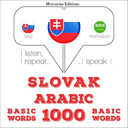 Couverture de Slovak - Arabic. 1000 basic words