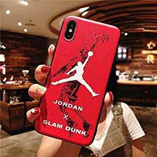 1 piece Flyman Jordan Case for iPhone XS Max Soft TPU Silicone edge Slam Dunk Phone Cases for iPhone XR 8 6 6S 7 Plus Back Cover