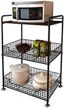 Home Living Museum/Metal Kitchen Rack Vegetable Rack Fruit Mobile Storage Shelf Multi Layer Floor Shelf