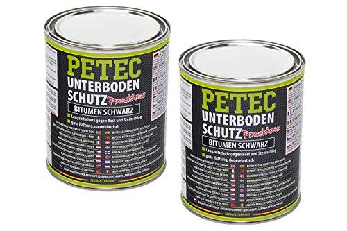Petec Langzeit Unterbodenschutz 2x 1000ml Bitumen Versiegelung Unterboden Schutz