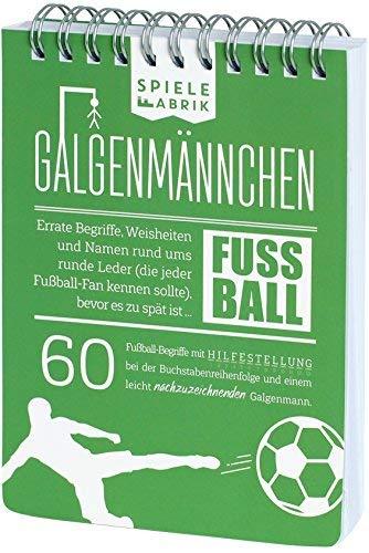 Spiel Fußballfan GALGENMÄNNCHEN | Rate 60 Fussball-Begriffe | Fußballgeschenk für Jungs | Spiele-Klassiker 2.0 | Partyspiel | Trinkspiel | Reisespiel | Wichteln | A6-Block im Abreißkalender-Format