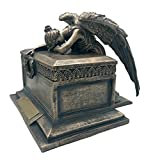 Beautiful Patina Customized Engraved Cremation Angel Urn for Male and Female Adult Human Ashes. Personalized Name Plate and Custom Text Included. Medium. 10.5