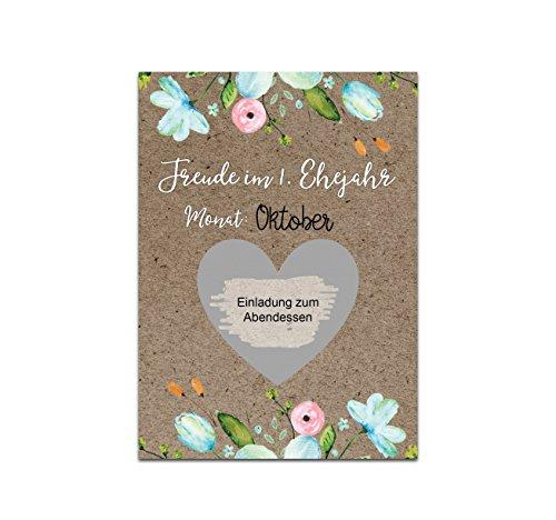 Nastami Hochzeitsspiel KartenEuer 1. Ehejahr