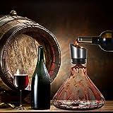 Cooko Wein Dekanter Belüfter, Wein Breather Karaffe mit Ausgießer Deckel, Mundgeblasenem Kristall Dekantierer, Luxus Wein Zubehör für Geschenk (1500ml) - 7