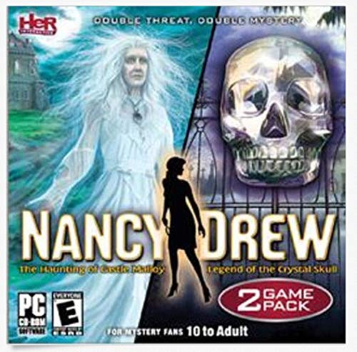 NANCY DREW The Haunting of Castle Malloy & Legend of the Crystal Skull 2 Games