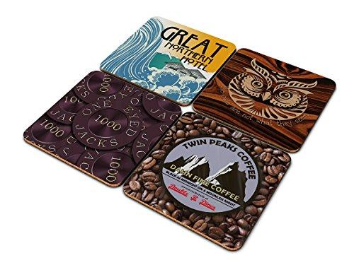 Posavasos Twin Peaks en caja de regalo, inspirado en la serie de...