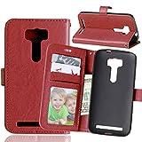 Qiaogle Téléphone Coque - PU Cuir Rabat Wallet Housse Case pour ASUS ZenFone 2 Laser ZE500KL (5.0...