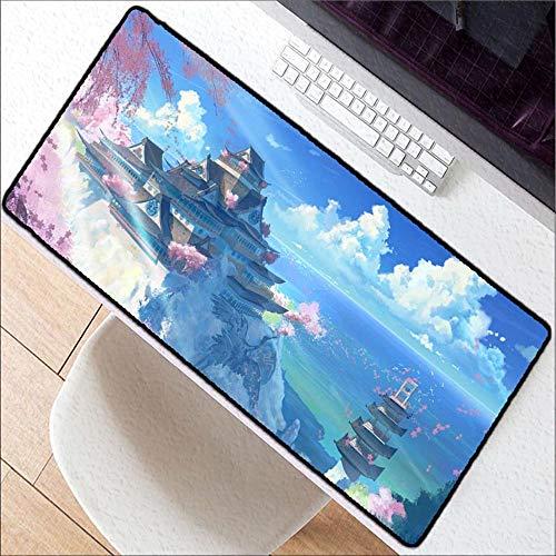 HONGHUAHUI berglandschap-blauwe hemel-speel-muismat laptop-tafel-rekenmachine muismat, 400 x 900 x 4 mm.