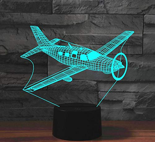Plane Bomber Acrylic 7Colors Desk Lamp 3D Lamp Novelty Led Night Light WarmWhite