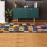 Tapis berbère 115x250 cm Rectangulaire BERBERE AZILAL 12 Multicolore Chambre Noué Main