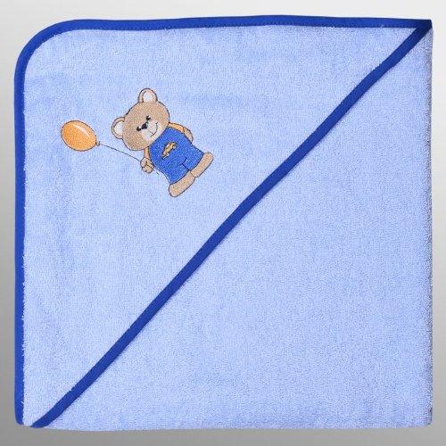 'WÖRNER Gant Nouvelle Collection Teddy Boy Sky Bavoir, des Serviettes, Gant (de Bain à Capuche 80 x 80 cm)