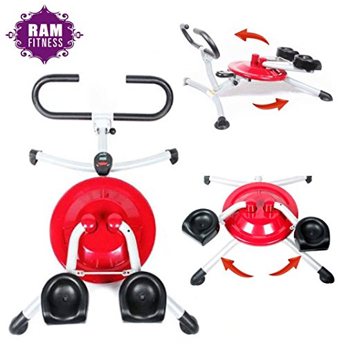 Ab Exerciser Fitness Machine 10 IN 1 Body Workout Tone Shape Strengthen Thighs Hips Arms Bum Shoulders Burn Abdominal Fat Abs Trainer Cruncher Roller Smart Wondercore Circular Motion Pro Home Gym