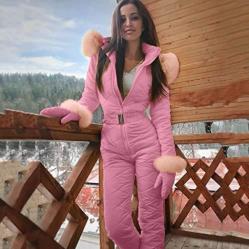 TriLance Vêtements d'hiver Ensemble survêtement de Haute qualité Ski Suit Femmes Intégré Ski Suit Femme en Plein Air Super Chaud Femme Ski Combinaisons, Combinaison de Ski Femme
