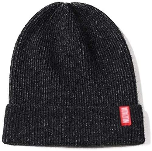 YNLRY Heat Holders - Gorro de lana de color sólido para correr, pescar, ciclismo, color negro