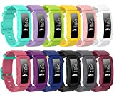 [12 Pack] Bolesi Bands Replacement Compatible with Fitbit ace 2,Water Resistant Fitness Watch Strap Compatible for Fitbit ace 2 Bands for Kids Boys Girls