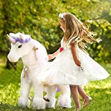PonyCycle Official Riding Horse White and Purple Unicorn No...
