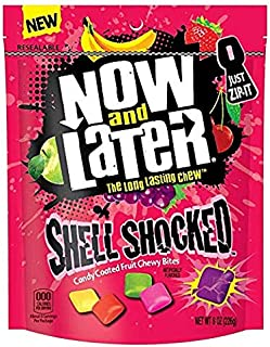 Now and Later Shell Shocked Fruit Chewy Bites Candy, 8 oz (Pack of 2)