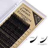 Joligel Eyelash Extensions Supplies for Professionals 0.15mm D Curl Mixed Tray 8-13mm Flat Ellipse Extra Soft Light Silk Individual False Lash Extensions Eyelash Extension Supplies 0.15-D-MIXED Lashes