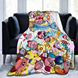 Dametul Rustic Fleece Bed Blankets, Kirby's Adventure Game Wedding Throw Blankets, Winter Ultra Cozy Gifts...