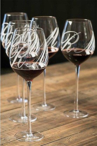 Riviera Maison - Rotweinglas, Weißweinglas, Weinglas - mit extra langem Stil - Höhe: 30 cm - Glas - 1 Stück