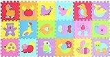 XMTMMD Suelo para Ninos Infantiles EVA Puzzle ColchonetaPara Ninos Y Infantiles EVA Puzzle Colchonetas Puzzle Rompecabezas para Cubrir el Suelo 18 Piezas Play Mat Set AMP014019G300918