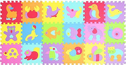 XMTMMD Schaumstoff Puzzle Matte Fruits Baby Gym Puzzle Spielmatte Kids Interlocking Soft Boden Fliesen Kinder Zimmer Play Bereich 18PCS AMZP014019G300918