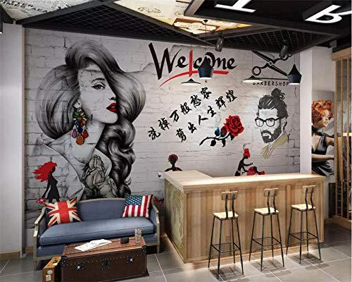 LUOJIE DIY 3D Wallpaper Premium Print Wandbilder Artwork Wanddekorationen Foto Vlies Poster Bild Design Modern High Resolution Willkommen Damenfrisuren-400cm * 280cm/157.5in * 110in