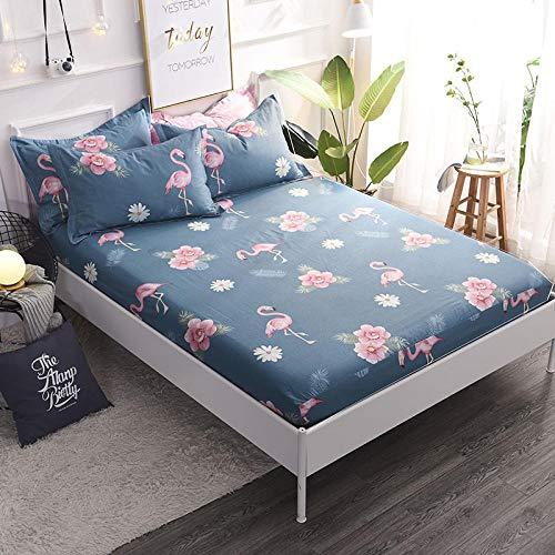 HPPSLT Protector de colchón/Cubre colchón Acolchado, Ajustable y antiácaros. Sábana de algodón Antideslizante de una Sola Pieza-4_1.2 * 2m
