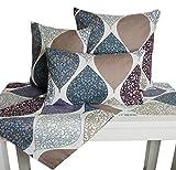 beties Momente XL Tischläufer ca. 40×220 cm in interessanter Größenauswahl hochwertig & angenehm 100% Baumwolle Farbe Hortensie - 7