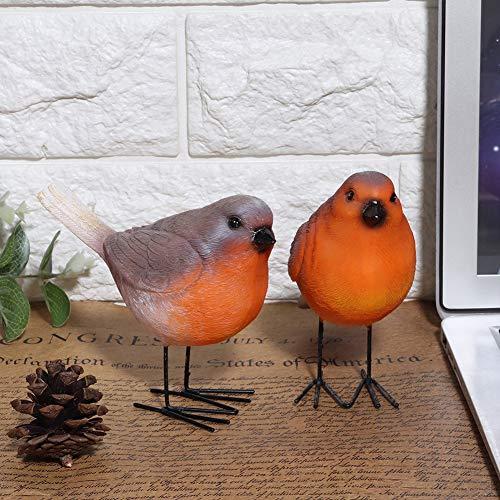 Decoración de pájaros, pájaro de resina, pájaros decorativos, 2 figuras de pájaros...