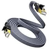 Ethernet Cable Cat 7 10FT/3M - Snowkids 1000Mbps Network LAN Patch Cords Flat Cable RJ45, for Network Switches, Routers, PS4,Hubs and Other, Backward Compatible with Cat6/Cat 5e/Cat 5
