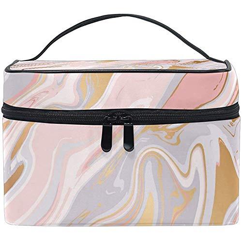 Liquide Marbre Texture Femmes Voyage Cosmétique Sac Portable Maquillage Train Cas Trousse De Toilette Beauté Organisateur