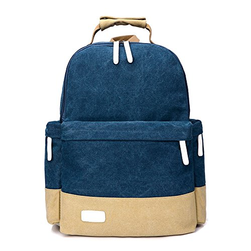 Academia Británica viento bolsas de hombro hombro mochila de gran capacidad boy viajar bolsa de ordenador, azul oscuro