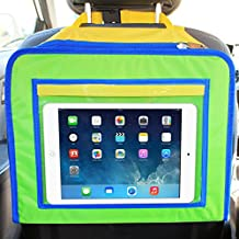 Skiva Kids Travel Tray and Backseat Car Organizer, Children's Snack Desk for Road Trips and Air Travel, iPad and Other Tablet Holder, Toys Crayons & Markers Coloring Bag, Age 3+