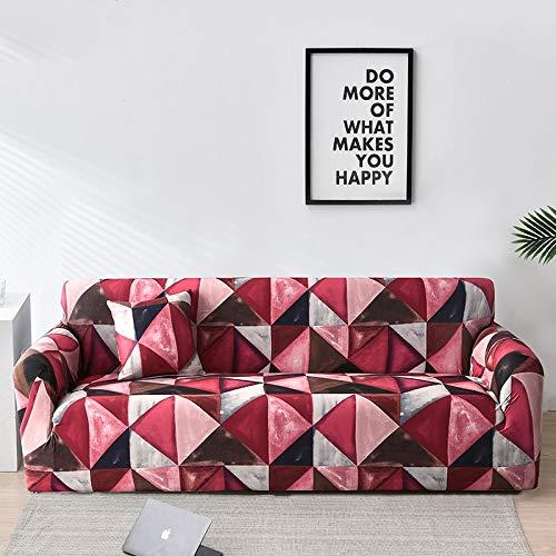 Fundas de sofá de Tela Escocesa geométrica Fundas de sofá elásticas para Sala de Estar Funda de Silla elástica para sofá Toalla de sofá A34 3 plazas