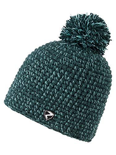 Ziener Erwachsene INTERCONTINENTAL hat Bommel-mütze/ warm, gehäkelt, Grape Leaf, Usex