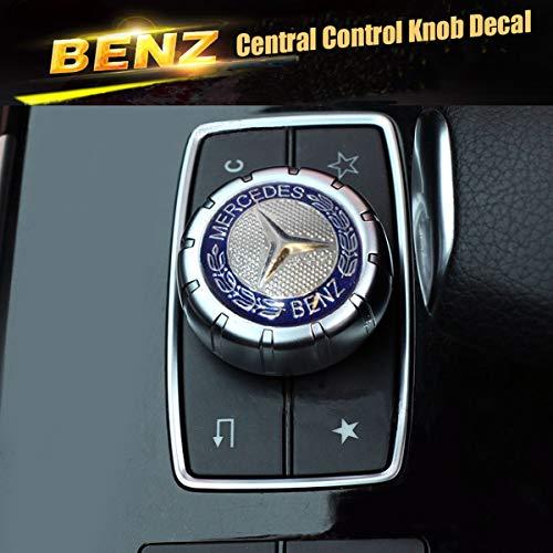 Mercedes-Benz Car AMG Style Interior Multimedia Control Metal Emblem Decal Sticker Badge Decoration Logo.