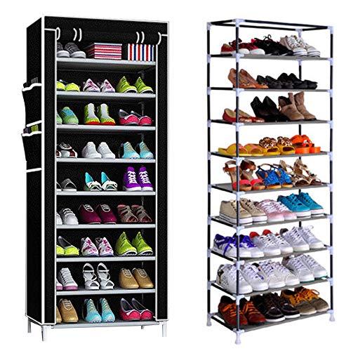 Mutiwill Schuhregal Schuhständer Schuhablage Schuhschrank Schuhe Aufbewahrung 10 Ebenen Für 40 Paar