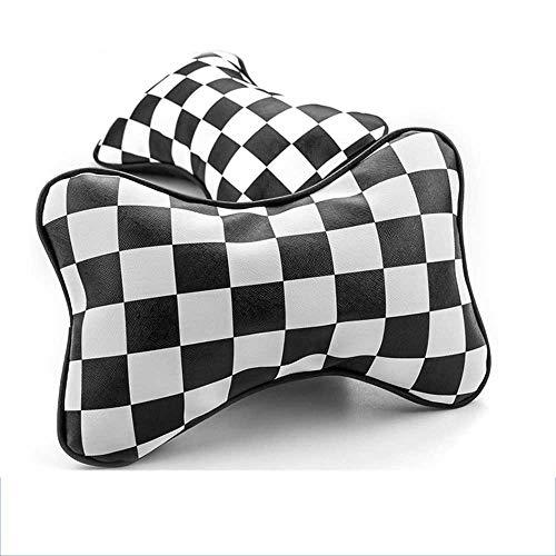 MIOAHD Auto NackenkissenPU Leder Kopfstütze Nackenstütze Kissenauflage, Fit für BMW Mini Cooper