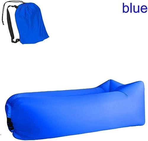 Pang Hu Matelas Gonflable Rapide portatif de Sofa, Sac de Couchage Sauvage, Sofa Paresseux d'os, Sofa d'air, approprié aux Loisirs extérieurs, Essencravatel de Voyage,bleu
