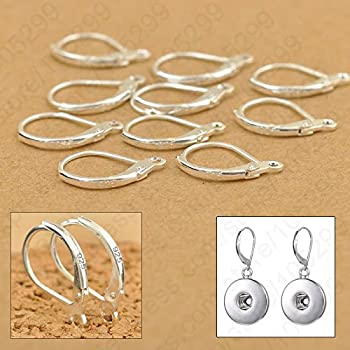 Laliva Accessories - 100PCS/Lot Jewellery Components Genuine 925 Sterling Silver Handmade Beadings Findings Earring Hooks Leverback Earwire Fittings
